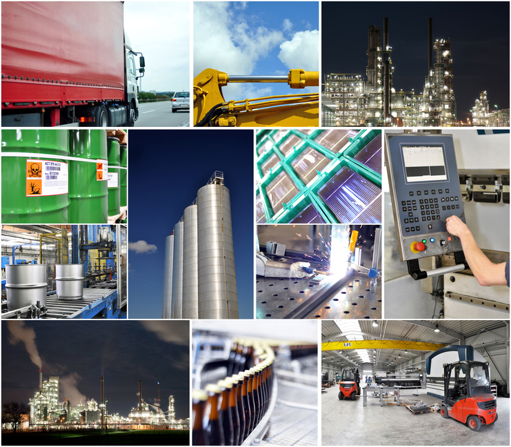 Industrie Collage // industry concept
